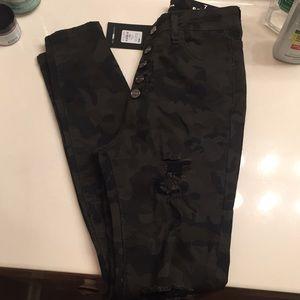 Camouflage High waist Fashion Nova Jeans